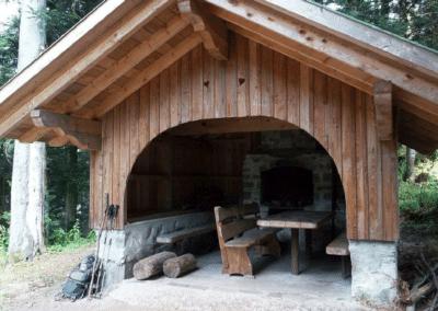 Abri de l'Essenbachkopf : aménagements intérieurs