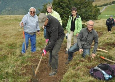 Journée de travail entre le col du Herrenberg et le sommet du Schweisel