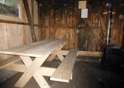 Cabane du Tal intérieur